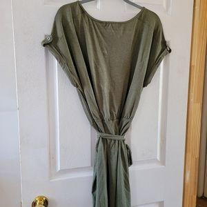 Belted T-shirt dress